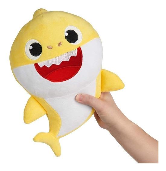 1 Pelúcia Baby Shark Musical 30cm - Original Toyng