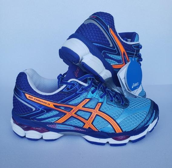Tênis Asics Gel Cumulus 16 Azul Running Tamanho 38 Original