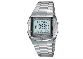 Relógio Casio Data Bank Prata Db-360 Original