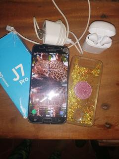 Samsung J7 Pro Con Todos Sus Accesorios