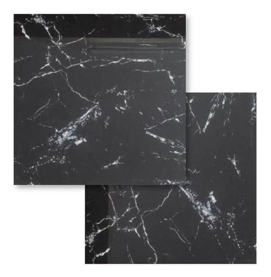 Porcelanato Rosetto Noir Laurent Negro 84x84 Pulido Cuotas