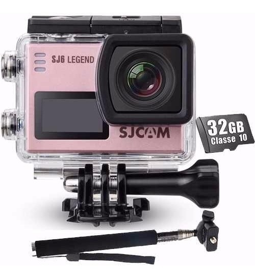 Kit Filmadora Sjcam Sj6 Legend + Bastao+ 32gb Camera 4k Wifi