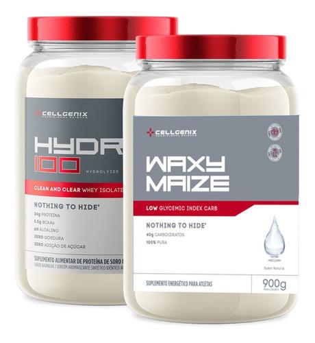 Kit Hydro 100 Whey Iso 900gr + Waxy Maize 900gr - Cellgenix