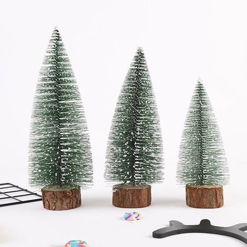 Imagen 1 de 8 de Decoración De Mesa Mini Árbol De Navidad Grupo De Dos Luce