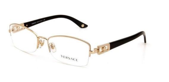 Óculos De Grau Metal Versace Feminino Dourado