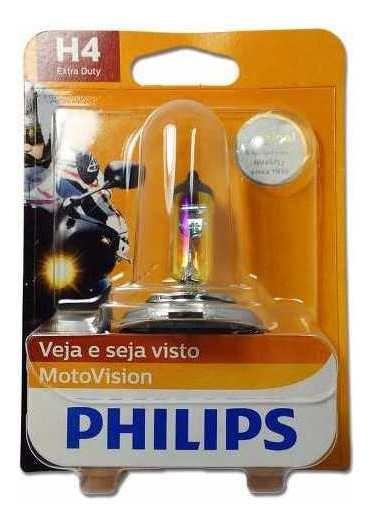 Lampada Motovision Cityvision +40% De Luz H4 35/35w Philips