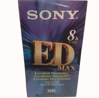 Cassette Nuevo Vhs Sony T-160 Con Diez Piezas