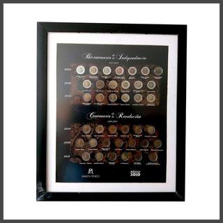 Cuadro Colección Monedas Bicentenario Independencia Banxico
