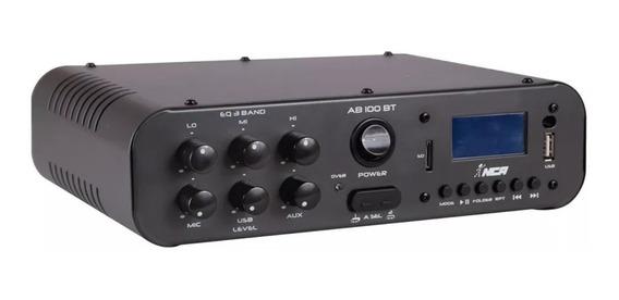 Amplificador Ambiente Compacto Nca Ab100 Bt Bluetooth 100 W
