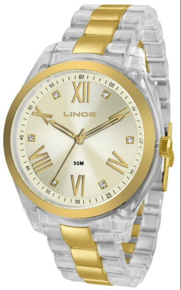 Relógio Feminino Lince Lrt4473p Analógico Casual Quartz