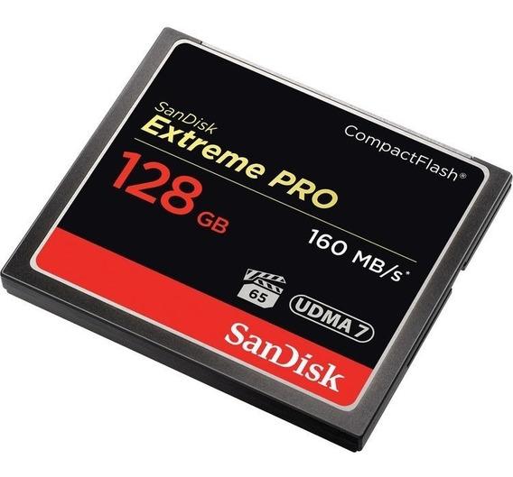 Cartão Memória Compact Flash Extreme Pro 128gb Sandisk 160mb
