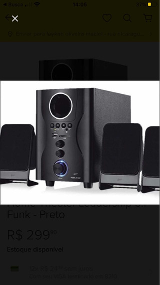 Home Theater Leadership 5.1 Funk - Preto