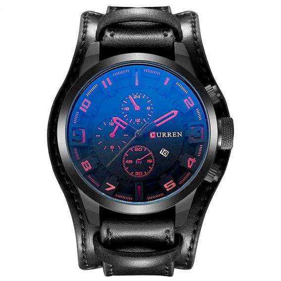 Relógio Curren Original! Pulseira De Couro