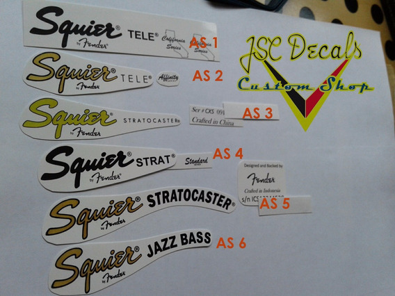 Squier Guitarra , Bass Decal Frete 8,50