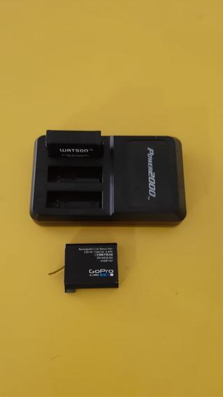Kit 2 Baterias Carregador Go Pro Gopro Hero 4 Silver Black