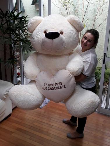 Urso Creme Presente Enorme Surpresa Gigante 1,40 Mts 140cm
