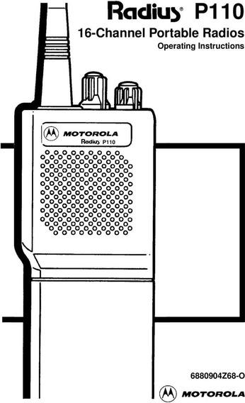 Manual E Esquema Elétrico Radio Motorola P110