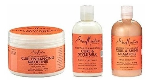 Shea Moisture Coconut And Hibiscus Combination Pack 13 O