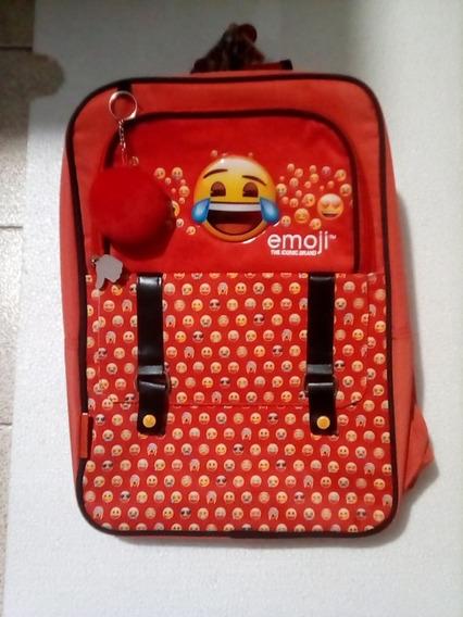 Mochila Emoji 3 Cierres Cresko Mediana