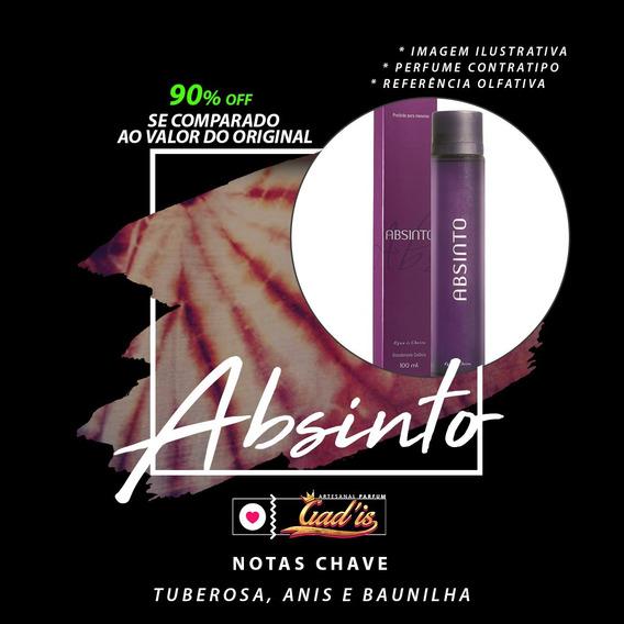Perfume Similar Nº 258 Inspirado Em Absinto De 120ml - A Maior Fixação E Projeção Do Mercado Com 35% De Essência