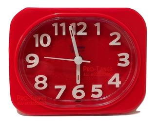 Reloj Despertador Con Alarma Melodía Luz Números Relieve