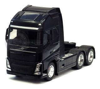 Miniatura Caminhão Volvo Fh Trucado Preto Welly 1/32