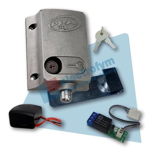 Cerradura Eléctrica P/ Portón Automático Ppa C/ Módulo Relé