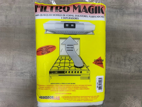 Filtro Magic Para Exaustores Até 6 Bocas - Emb. C/ 2un