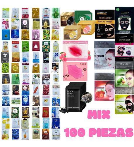 Imagen 1 de 10 de Pack 100 Piezas De Mascarillas Mixto Coreanas Surtidos