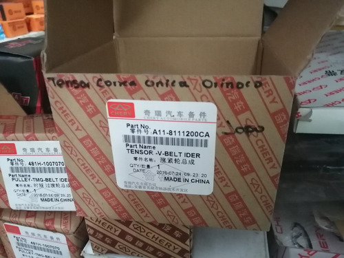 Tensor Polea Correa Única Chery Orinoco Arauca X1  Original
