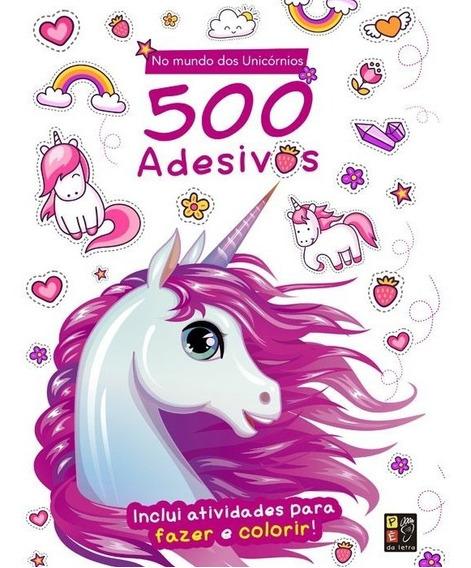 Livro 500 Adesivos - No Mundo Dos Unicórnios