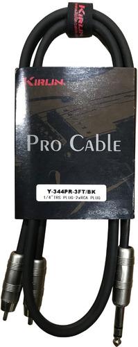 Imagen 1 de 2 de Cable Plug Estéreo A Rca Kirlin Y-344-3ft 0.9m
