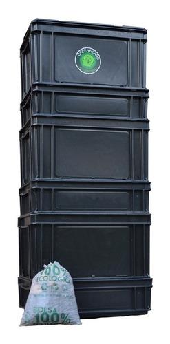 Compostera Urbana Greenheads 60 L + Manual + Lombrices