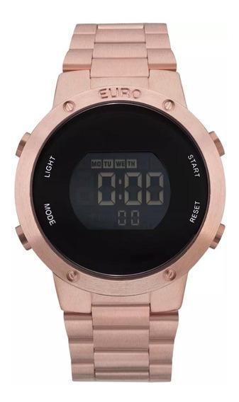 Relógio Feminino Euro Rose Digital Eubj3279af/4j