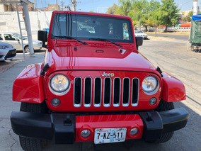 Jeep Wrangler 3.6 Unlimited Sahara 4x4 At 2016 Rojo
