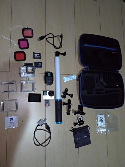 Hero 4 Black + Tela Lcd + Case Polar Pro + Acessórios