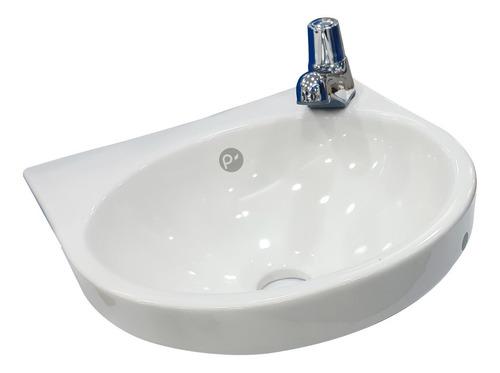 Imagen 1 de 3 de Lavamanos Porcelana Blanco De Colgar 30 Cm X 30 Cm