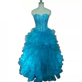 Vestido Xv Años Azul Envio Gratis !green Dress For 15 Years