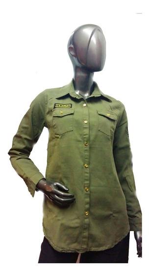 Camisa Militar Mujer Women Warrior