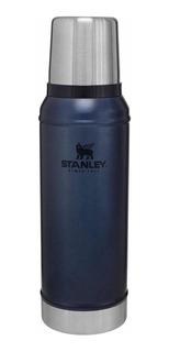 Termo Stanley Azul Metalizado Y Negro Mate 1 Litro