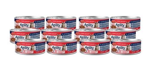 Imagen 1 de 6 de Agility Cats En Lata Sabor Carne X 90 Gr Pack X 12 Unidades