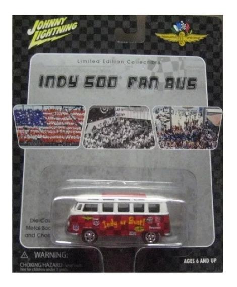 Volkswagen Kombi Samba Bus Roja Johnny Lightning Solo Envios