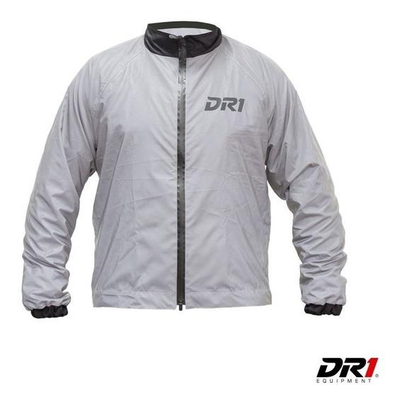 Chaqueta Impermeable Reflectiva Moto Motociclismo Hombre Dr1