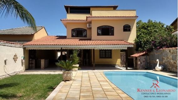 Casa Triplex Em Itaipuaçu, 4 Suítes, Piscina, Churrasqueira - 456