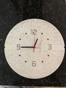 Relógio De Parede Star Wars Estrela Da Morte