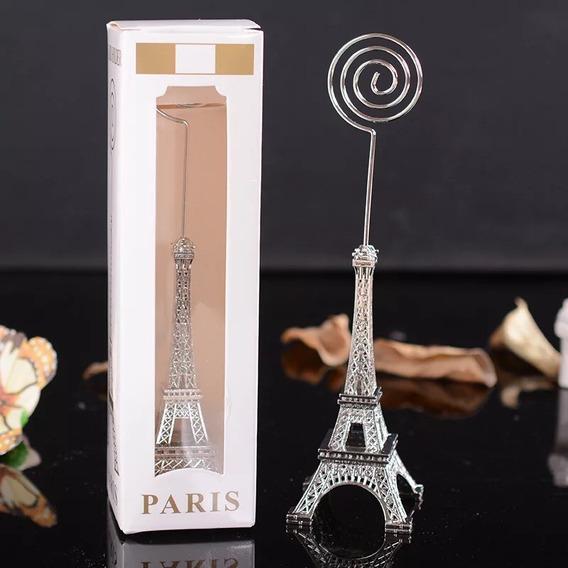 50 Porta Recado Miniatura Torre Eiffel Para Lembrança Festa