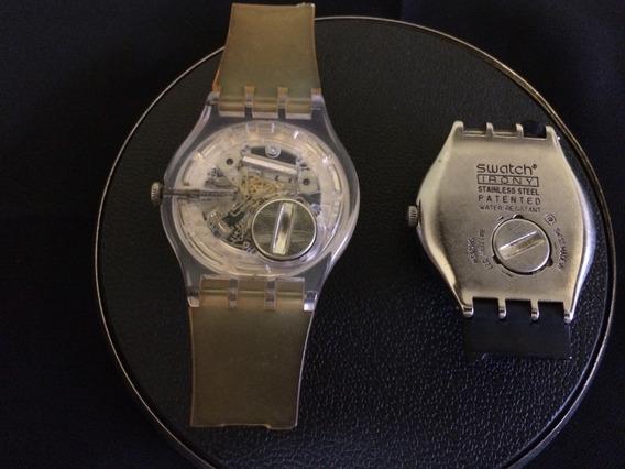 Lote 2 Relógio De Pulso Unissex Swatch Swiss