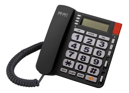 Imagen 1 de 3 de Teléfono fijo Select Sound 8216 negro