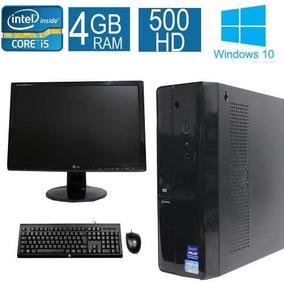 Desktop Asus I5 4gb 500hd Monitor 19