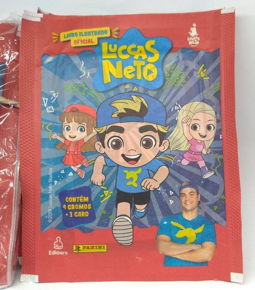 Kit Figurinha Luccas Neto 20 Envelopes 80 Cromos E 20 Cards